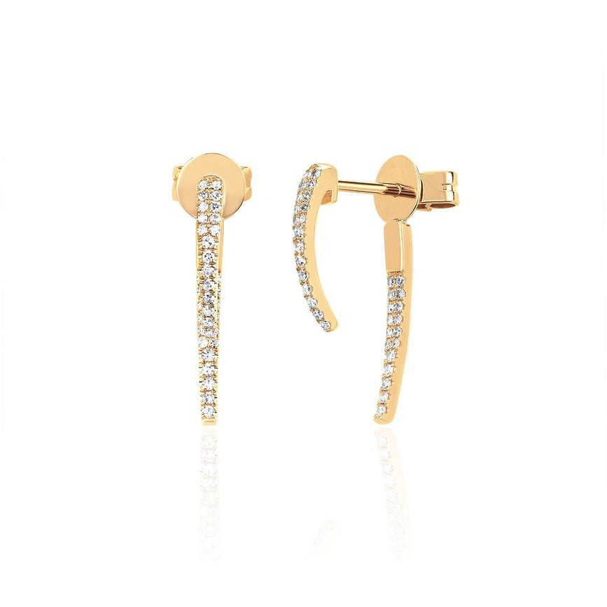 Diamond Hook Earring
