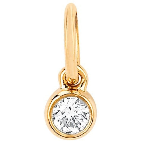 Diamond Bezel Necklace Charm