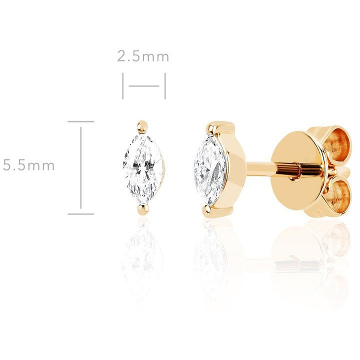 Diamond Marquise Stud Earring