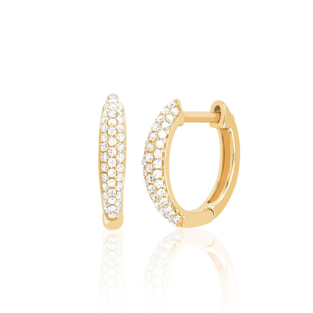 Diamond Dome Mini Huggie Earring