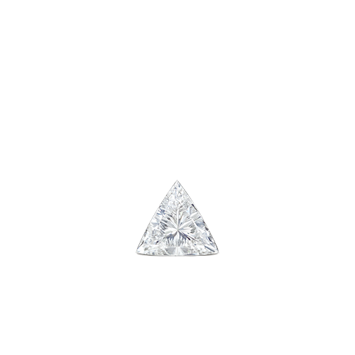 4mm Invisible Set Triangle Diamond Stud Earring