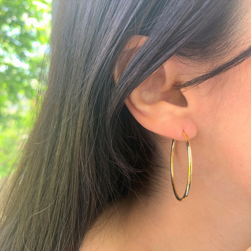 The Perfect Large Gold Hoop