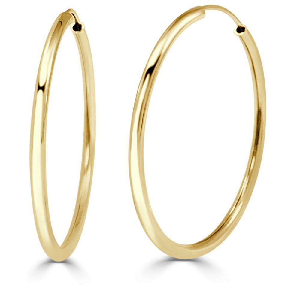 The Perfect Large Gold Hoop (Thin)