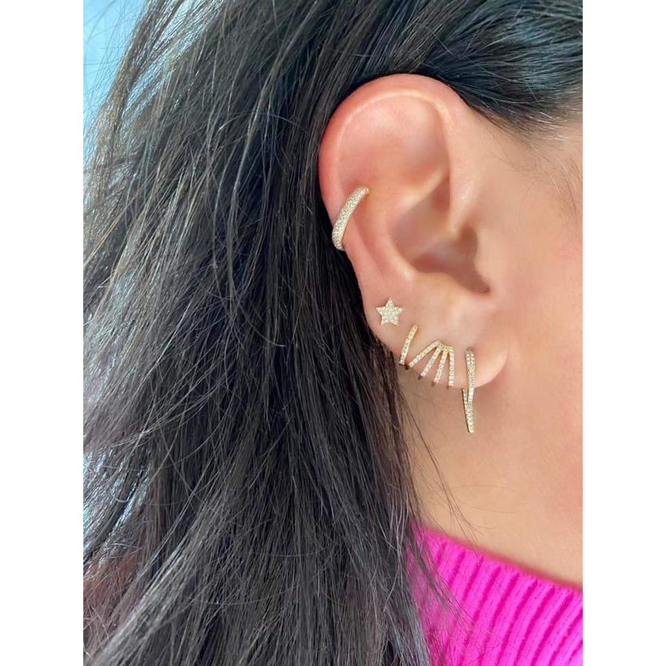 Diamond Multi Huggie Earring