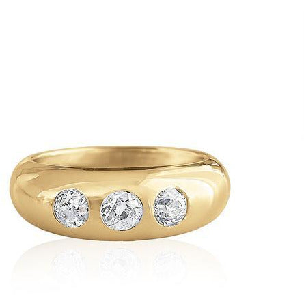 Nomad 3 Stone Diamond Ring