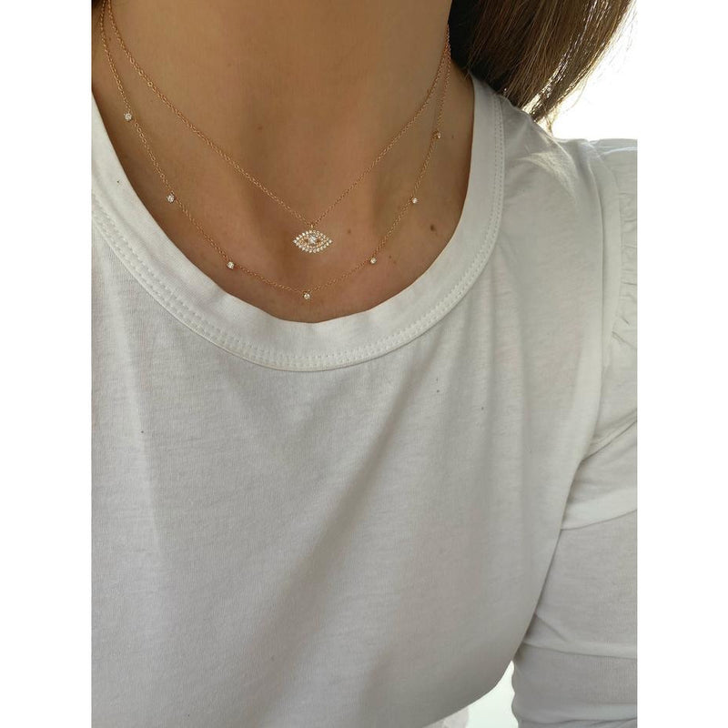 7 Prong Set Diamond Necklace