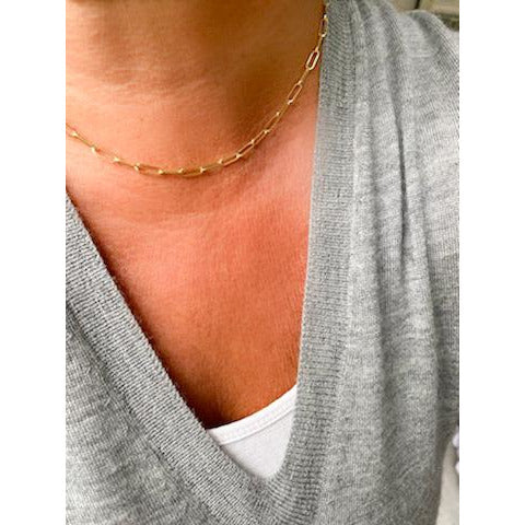 Extra Small Paperclip Chain Necklace