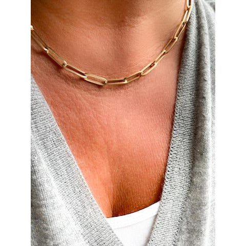 Extra Large Paperclip Chain Necklace