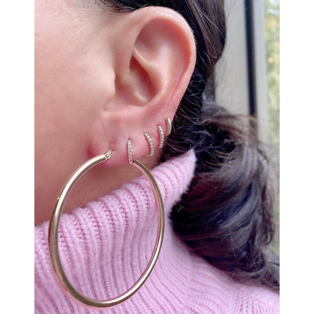 "The Perfect Gold Hoop 2"" (Thick)"