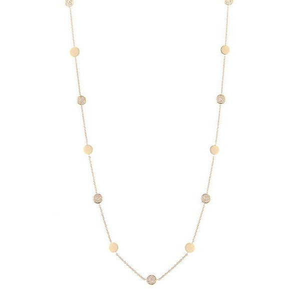 Gold  Diamond Circle-By-The-Inch Necklace
