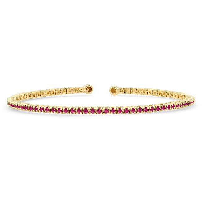 Ruby 4 Prong Tennis Cuff