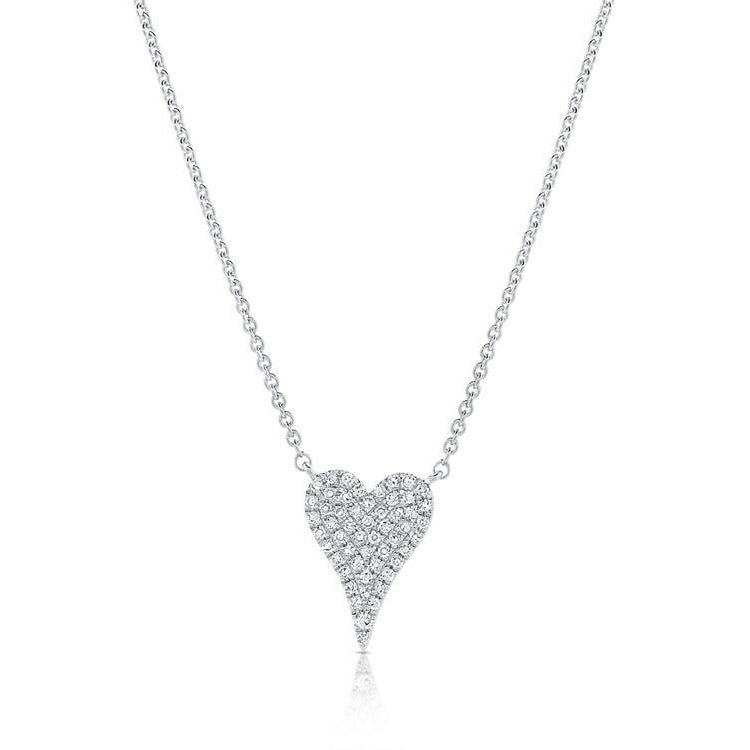 Diamond Pave Mini Heart Necklace
