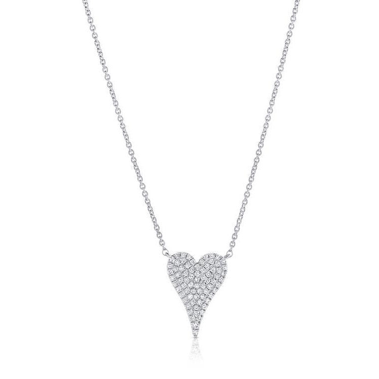 Diamond Pave Small Heart Necklace