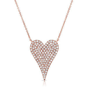 Diamond Pave Heart Necklace