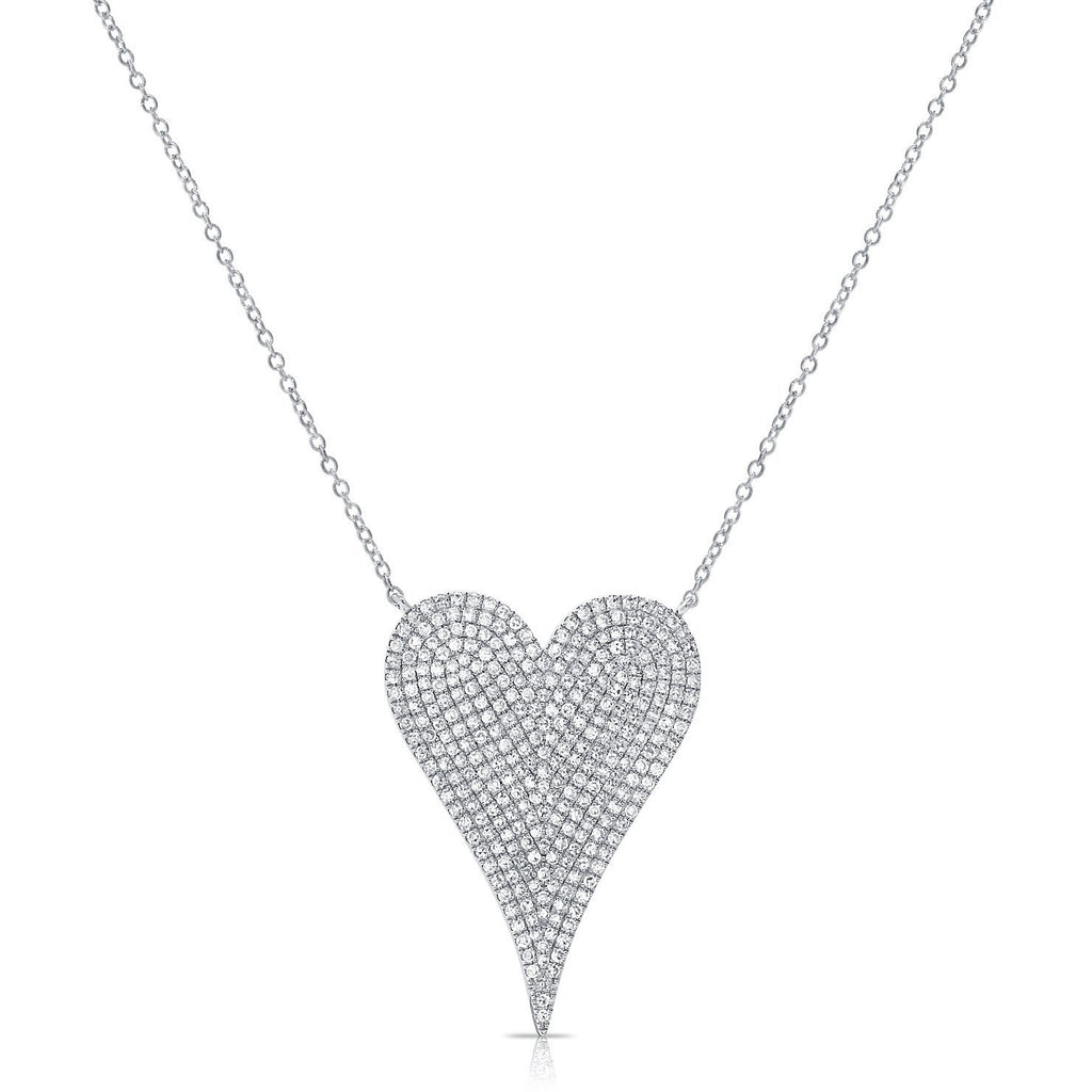 Diamond Pave Large Heart Necklace