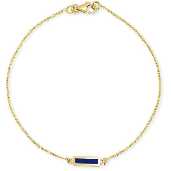 Lapis Inlay Bar Bracelet