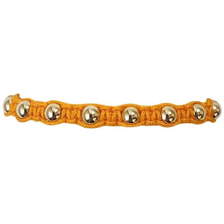Macrame Bracelet with Yellow Gold Filled Beads