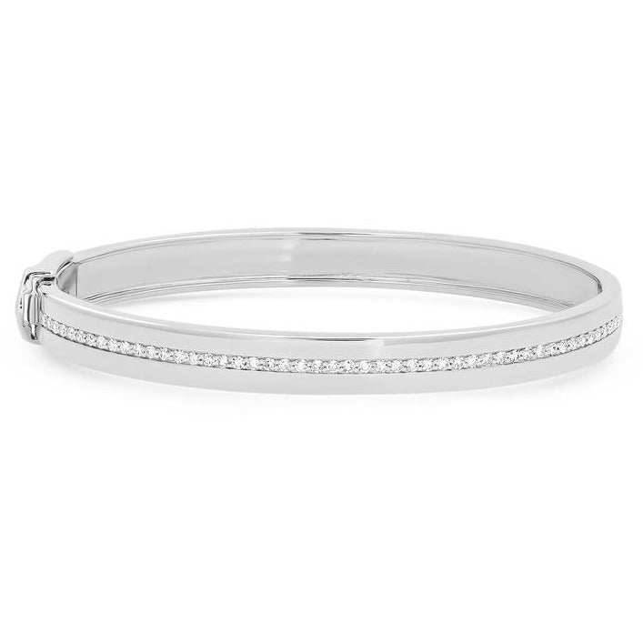 Bangle with Pave Diamond Row