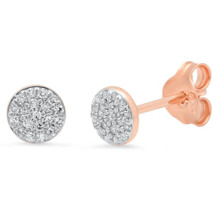 Pave Diamond Circle Studs