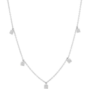Diamond Mini Square Necklace