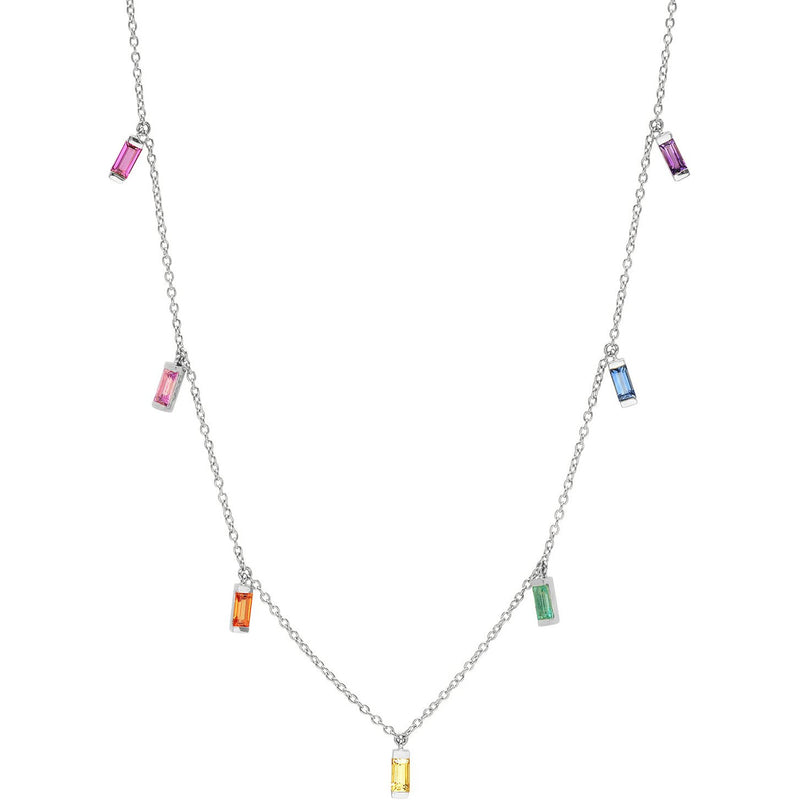 Multicolored Baguette Necklace