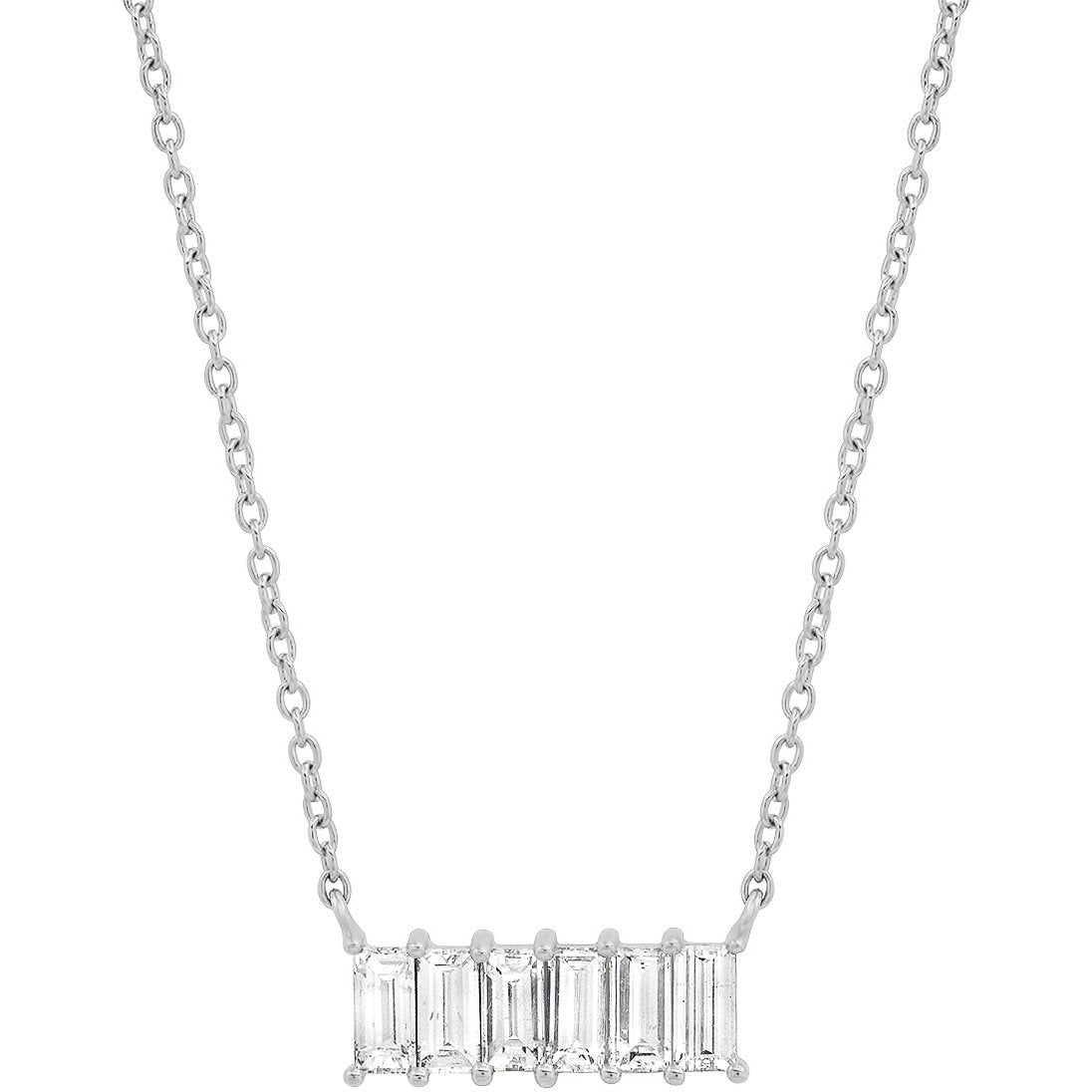 Diamond Baguette Staple Necklace