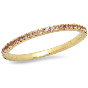 Amethyst Eternity Band