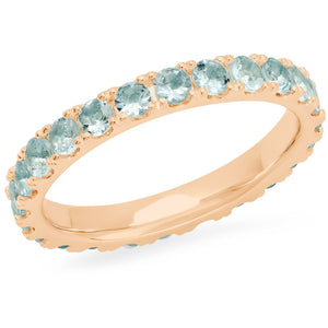 Large Aquamarine Eternity Band