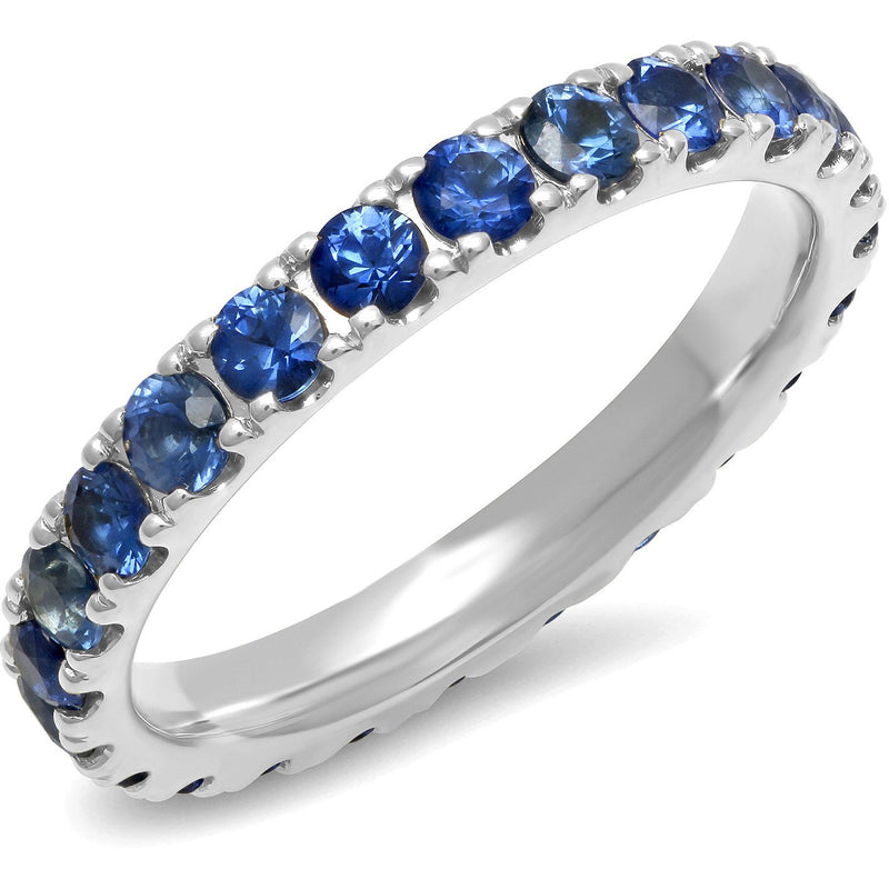 Large Blue Sapphire Eternity Band
