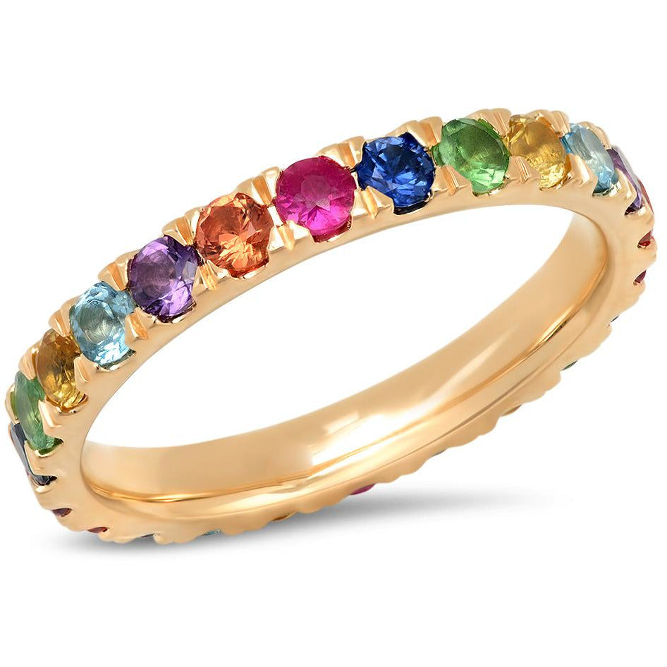Large Multi Colored Eternity Band
