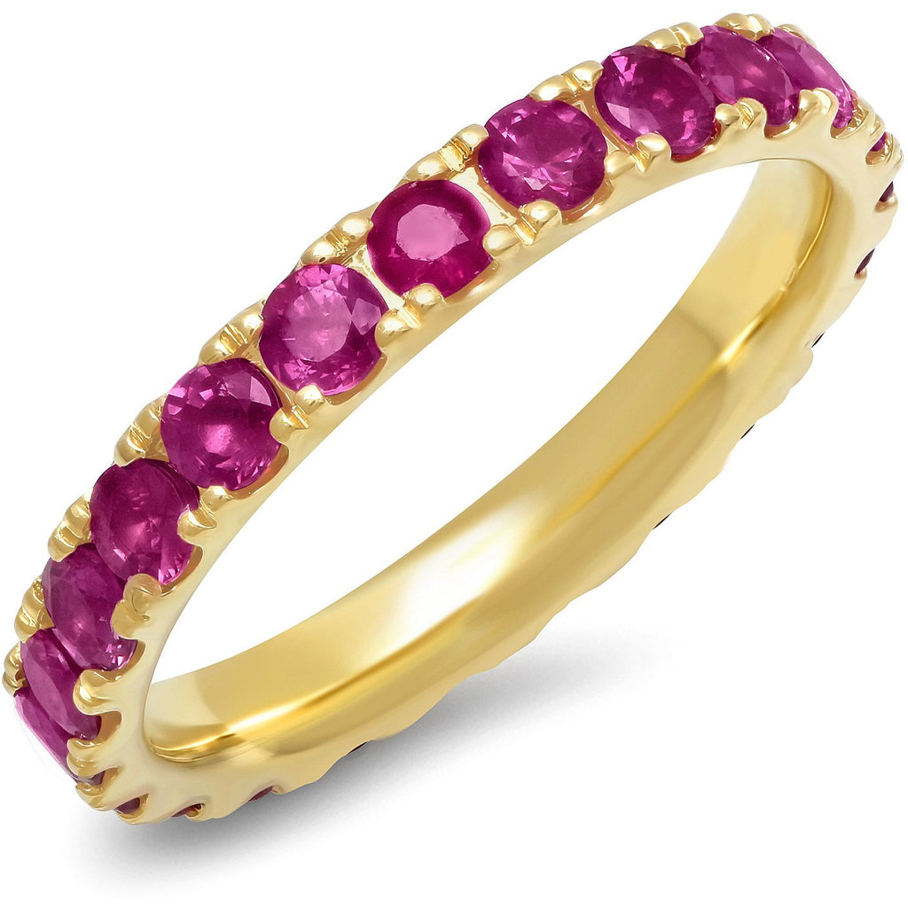 Large Ruby Eternity Band