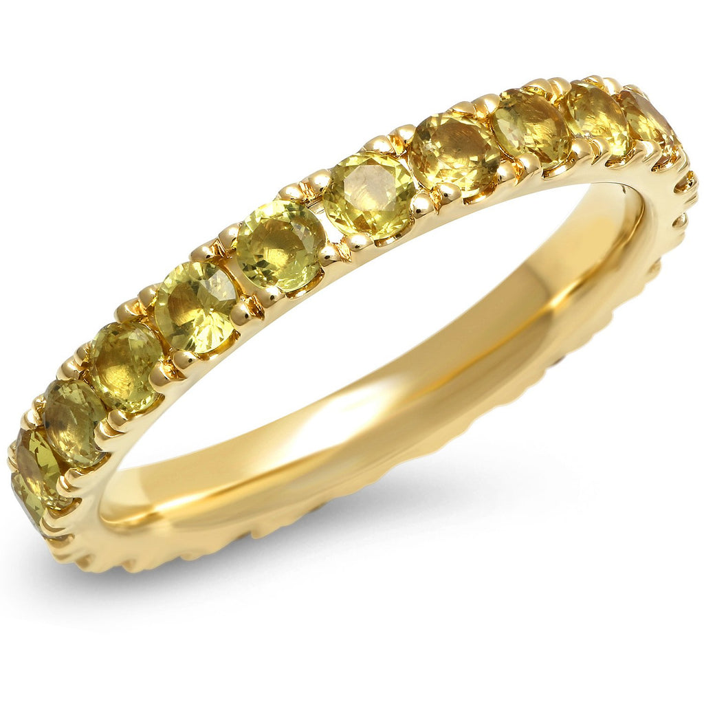 Large Yellow Sapphire Eternity Band
