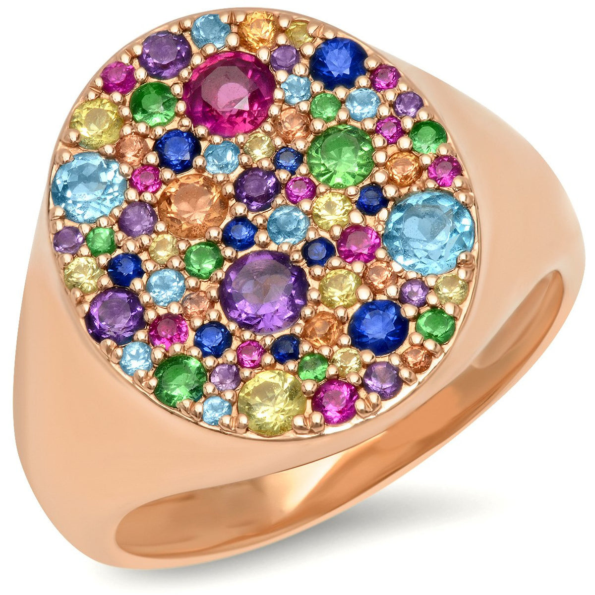 Multi Colored Signet Ring