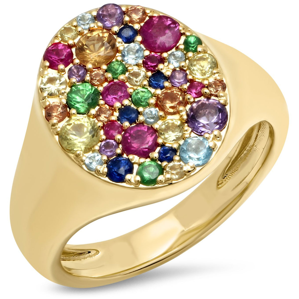 Multi Colored Signet Pinky Ring