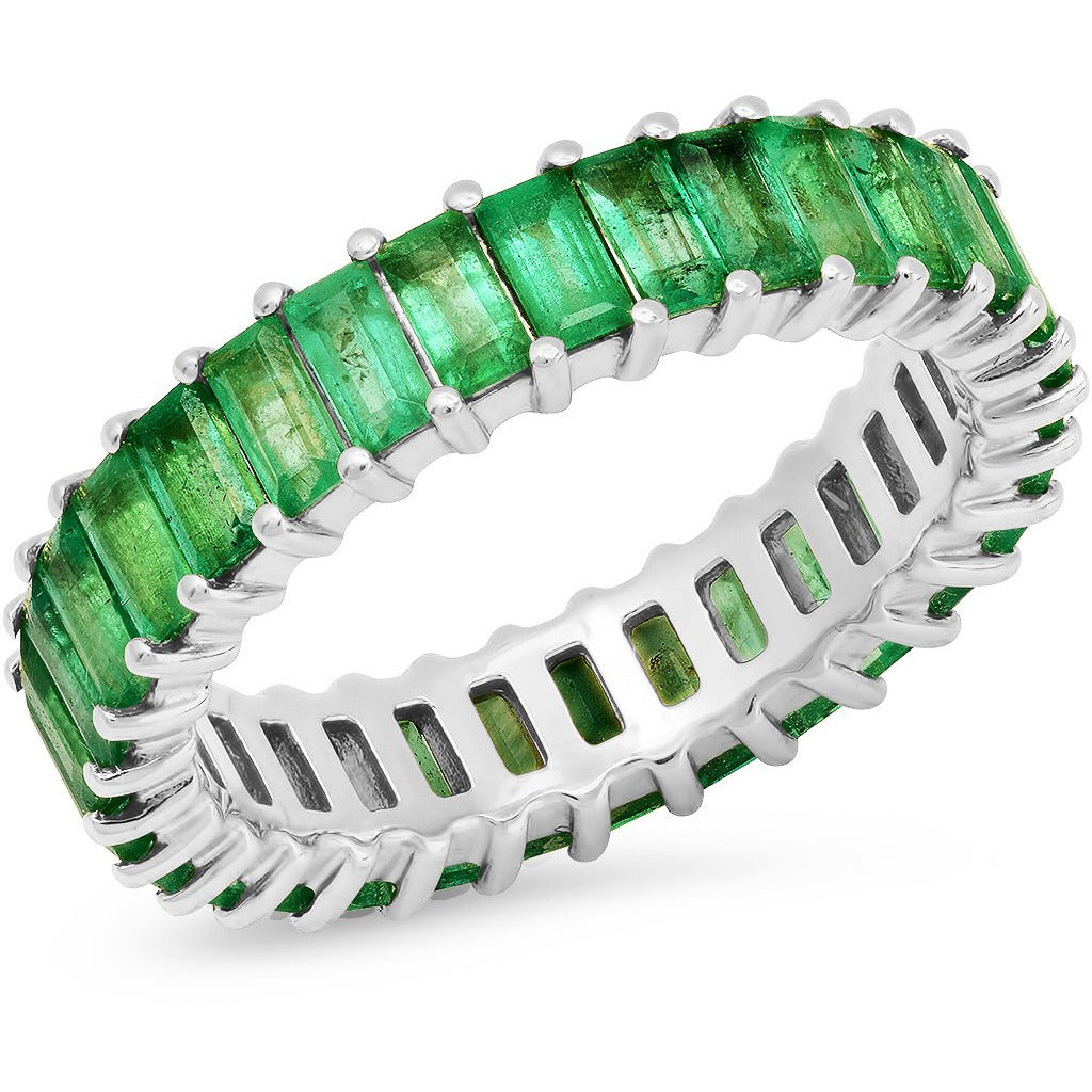Emerald Vertical Baguette Ring