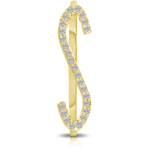 Yellow Gold Diamond Letter Ring