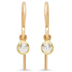 Diamond Bezel Drop Earrings