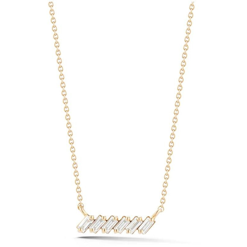 Sadie Pearl Slope Bar Necklace