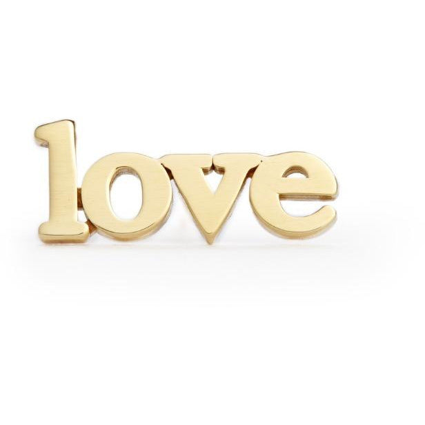 """Love"" Stud Earring"