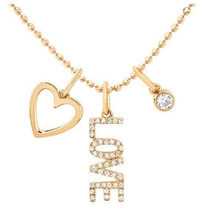 Diamond Love Charm Necklace