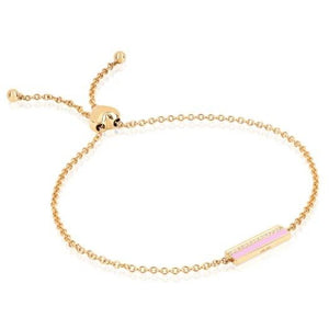 Diamond & Enamel Bar Friendship Bracelet
