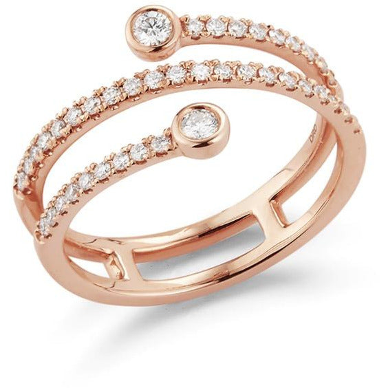 Lulu Jack Bezel and Pave Set Diamond Wrap Ring