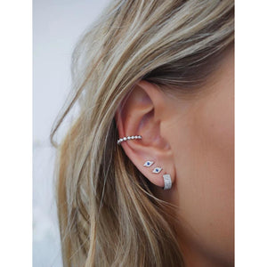 Diamond Bezel Large No Piercing Ear Cuff