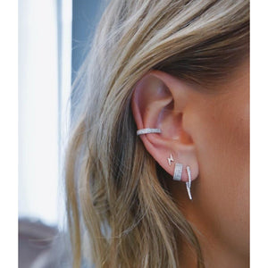 Triple Diamond Large No Piercing Ear Cuff