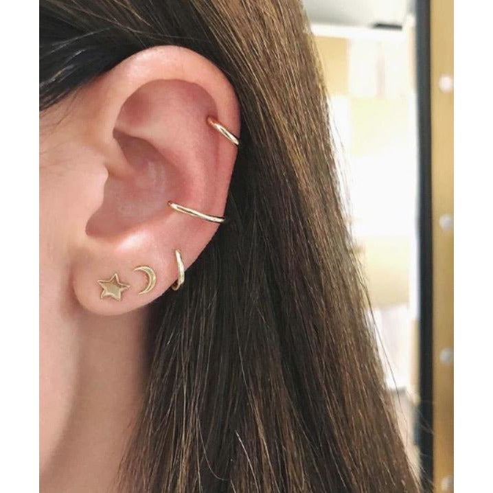 Gold Large No Piercing Ear Cuff