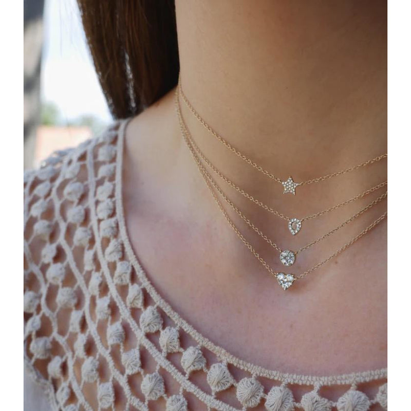 Diamond Teardrop Choker Necklace