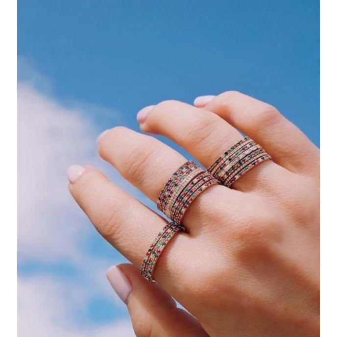 Diamond Rainbow Eternity Band Ring