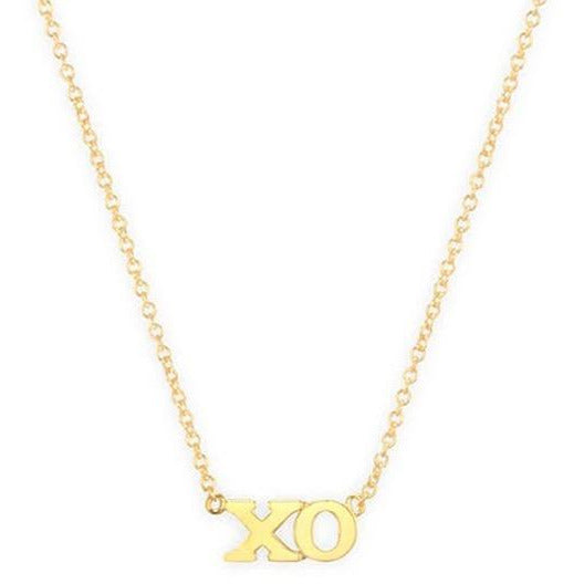 "Lowercase ""XO"" necklace"