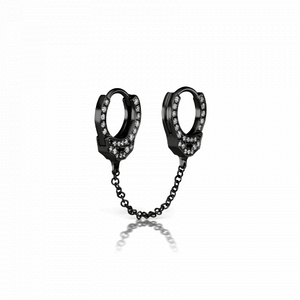 6.5mm Double-sided Diamond Handcuff Clickers with Medium Chain