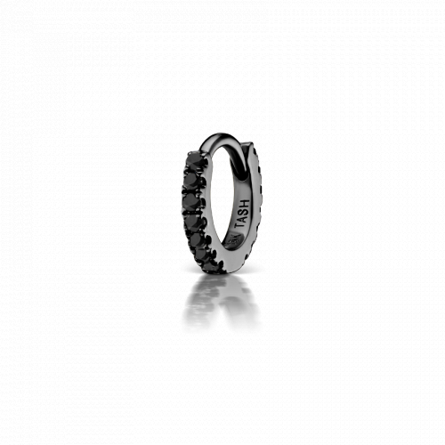 5mm Black Diamond Eternity Huggie